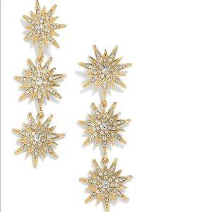 BaubleBar Star Drop Earrings in Gold